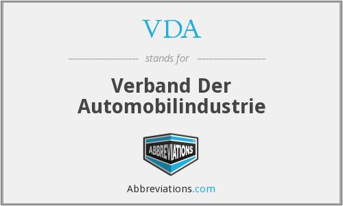 What does VDA stand for?
