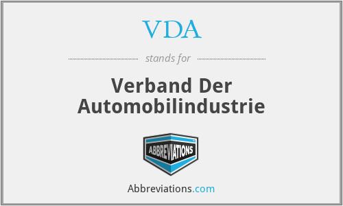 VDA - Verband Der Automobilindustrie