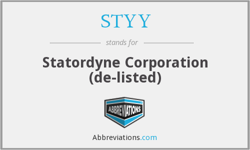 What does STYY stand for?