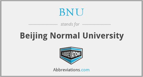 BNU - Beijing Normal University