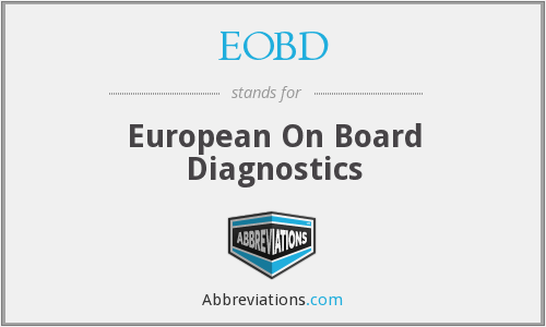 What does EOBD stand for?