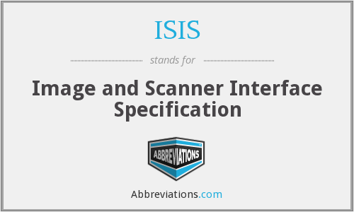 ISIS - Image and Scanner Interface Specification
