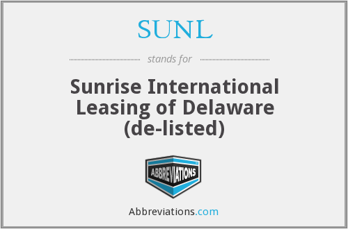 What does SUNL stand for?