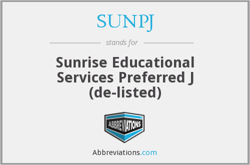 What does SUNPJ stand for?