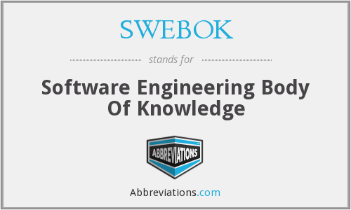 What does SWEBOK stand for?