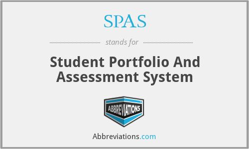 SPAS - Student Portfolio And Assessment System
