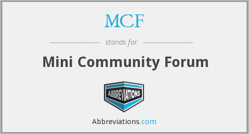 MCF - Mini Community Forum