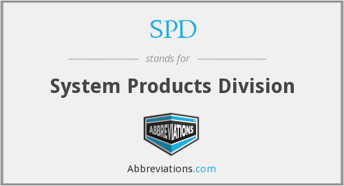 SPD - System Products Division