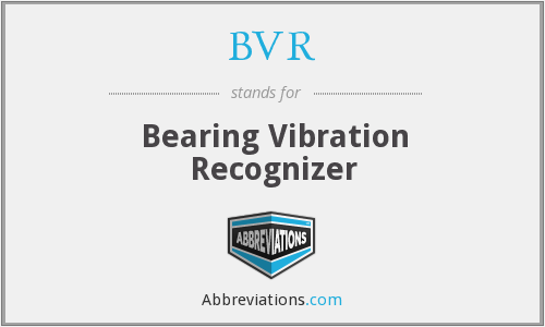 BVR - Bearing Vibration Recognizer