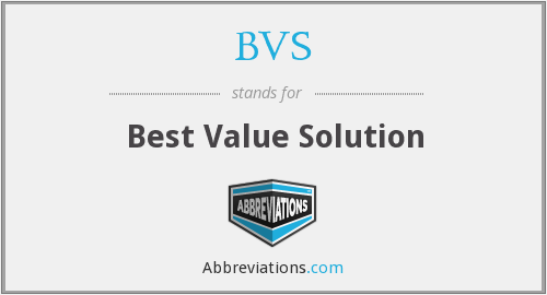 BVS - Best Value Solution