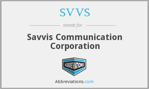 What does SVVS stand for?