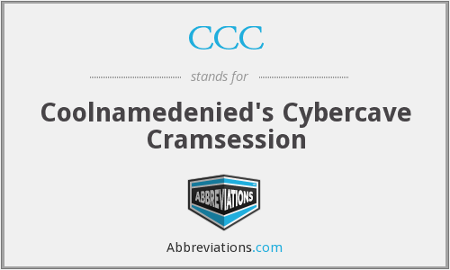 CCC - Coolnamedenied's Cybercave Cramsession