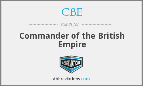 What does CBE stand for?