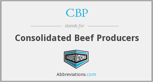 CBP - Consolidated Beef Producers