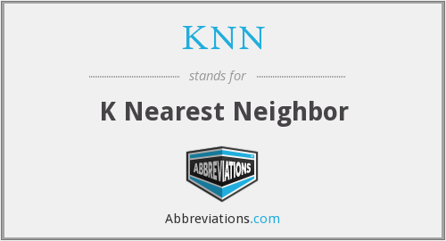 What does KNN stand for?