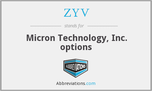 ZYV - Micron Technology, Inc. options