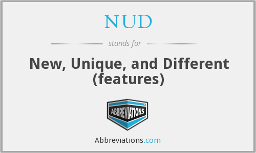 NUD - New, Unique, and Different (features)