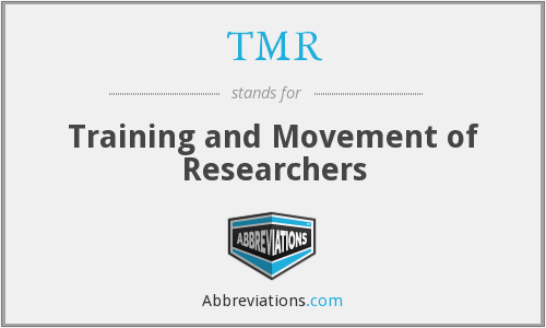TMR - Training and Movement of Researchers