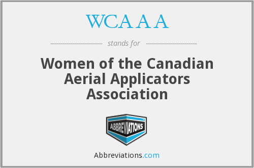 WCAAA - Women of the Canadian Aerial Applicators Association