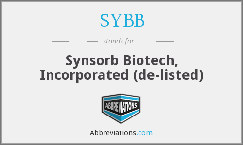 SYBB - Synsorb Biotech, Incorporated  (de-listed)