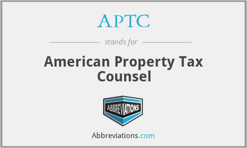 APTC - American Property Tax Counsel