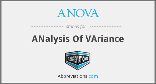 What does ANOVA stand for?