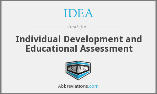IDEA - Individual Development and Educational Assessment