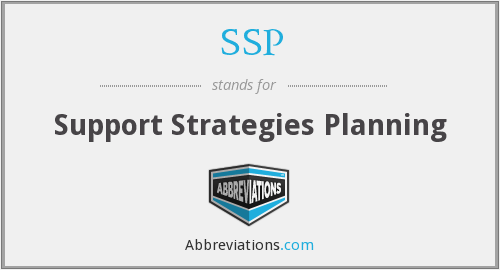 SSP - Support Strategies Planning