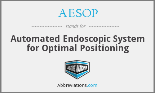What does AESOP stand for?