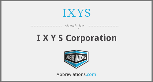 SYXI - I X Y S Corporation