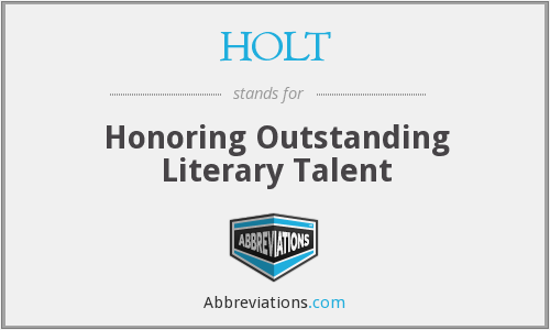 HOLT - Honoring Outstanding Literary Talent