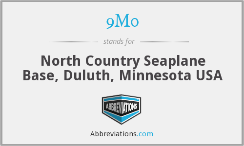 9M0 - North Country Seaplane Base, Duluth, Minnesota USA