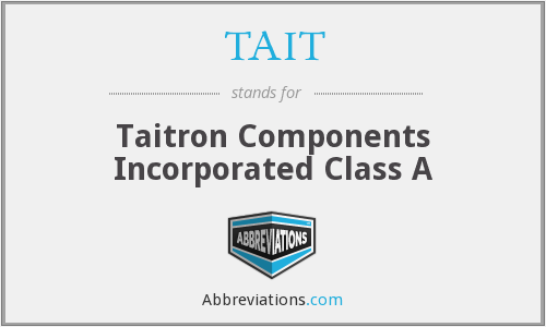 What does TAIT stand for?
