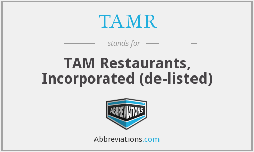 What does TAMR stand for?