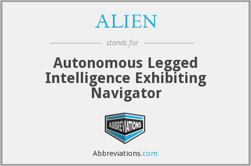 ALIEN - Autonomous Legged Intelligence Exhibiting Navigator