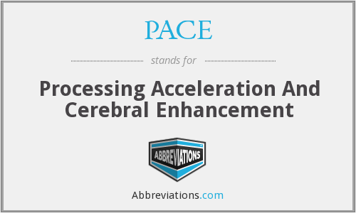 PACE - Processing Acceleration And Cerebral Enhancement