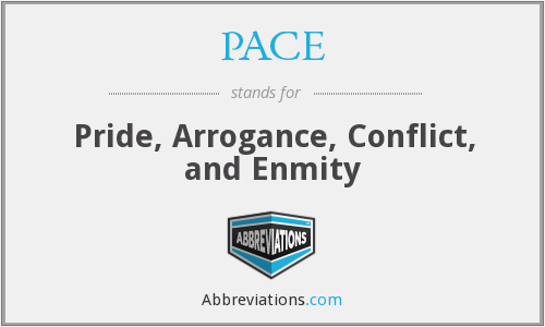 PACE - Pride, Arrogance, Conflict, and Enmity