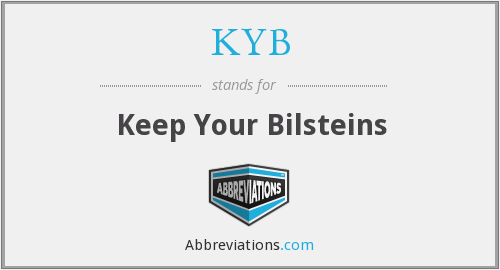 KYB - Keep Your Bilsteins