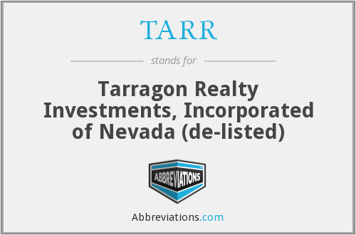 What does TARR stand for?