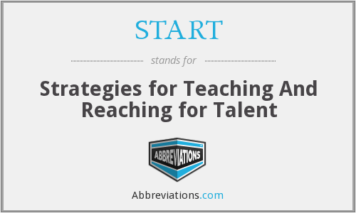 START - Strategies for Teaching And Reaching for Talent