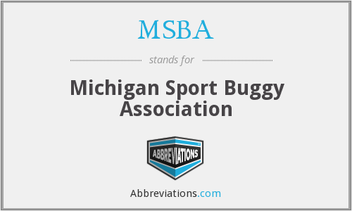 MSBA - Michigan Sport Buggy Association
