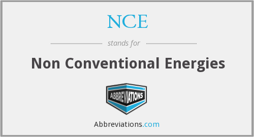 NCE - Non Conventional Energies