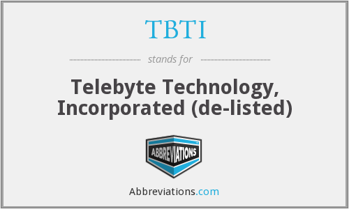 What does TBTI stand for?