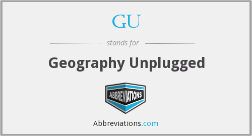 GU - Geography Unplugged