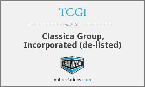 What does TCGI stand for?