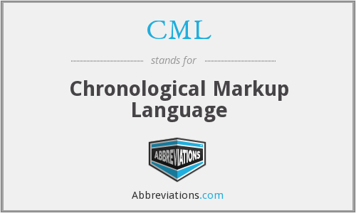 CML - Chronological Markup Language