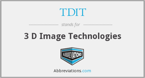 What does TDIT stand for?