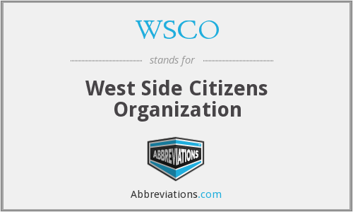 What does WSCO stand for?