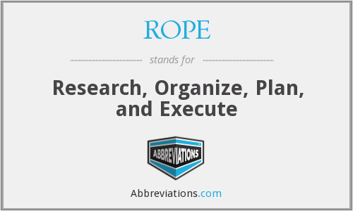 ROPE - Research Organize Plan And Execute