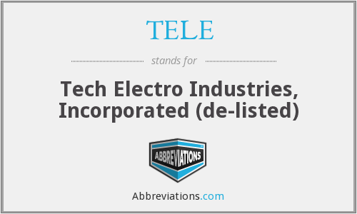 TELE - Tech Electro Industries, Incorporated  (de-listed)